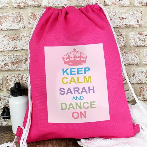 Personalised Pastel Keep Calm Kit Bag